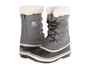 gray snow boots