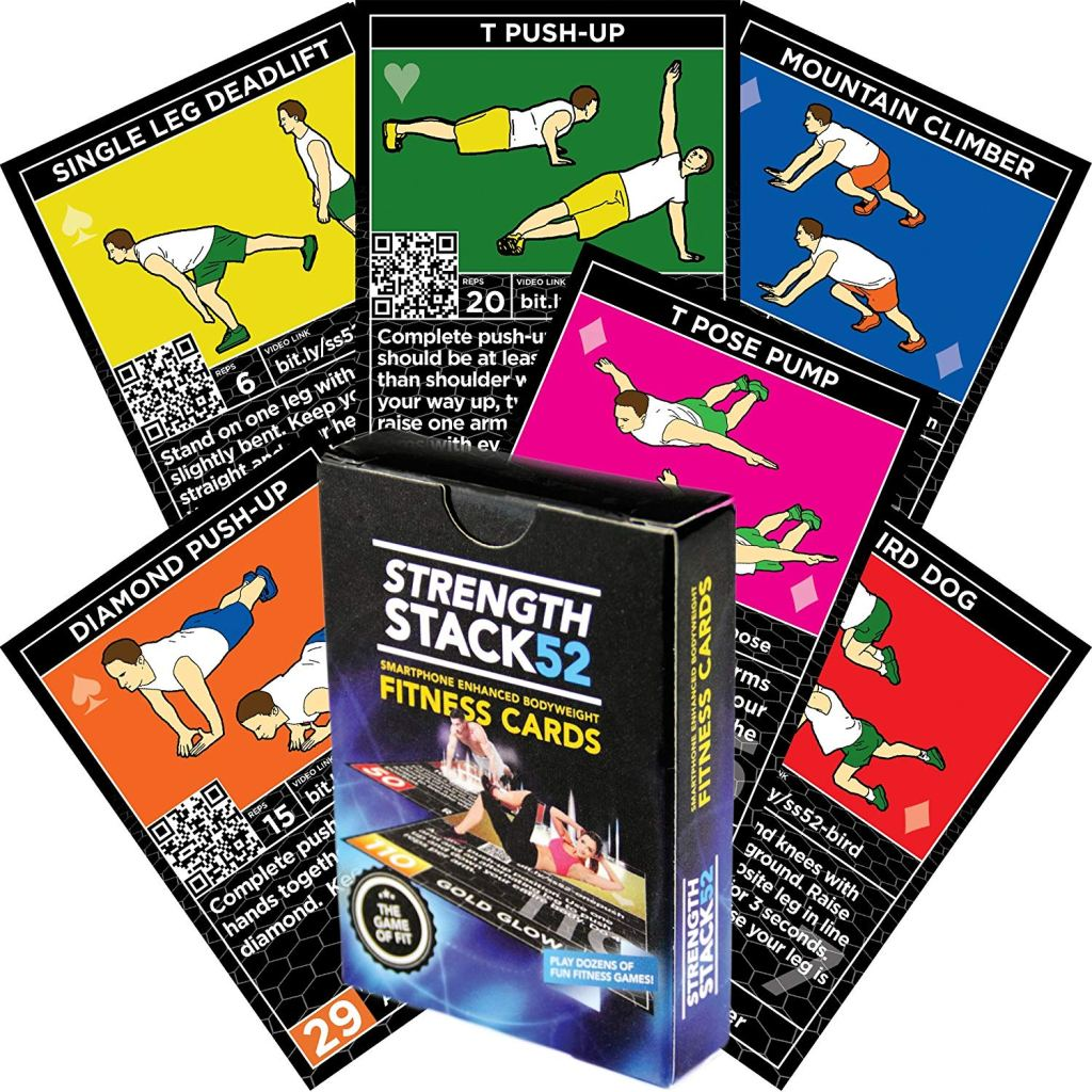 stack 52 strength fitness cards