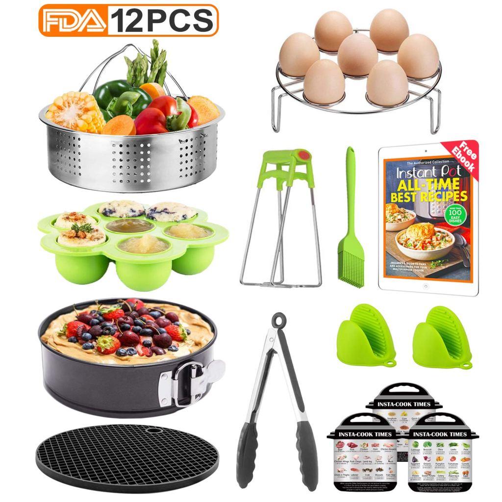 Tecvinci 12-Pcs Accessories Set for Instant Pots Amazon