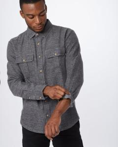Gray button up shirt