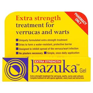 how to get rid of warts bazuka extra strength