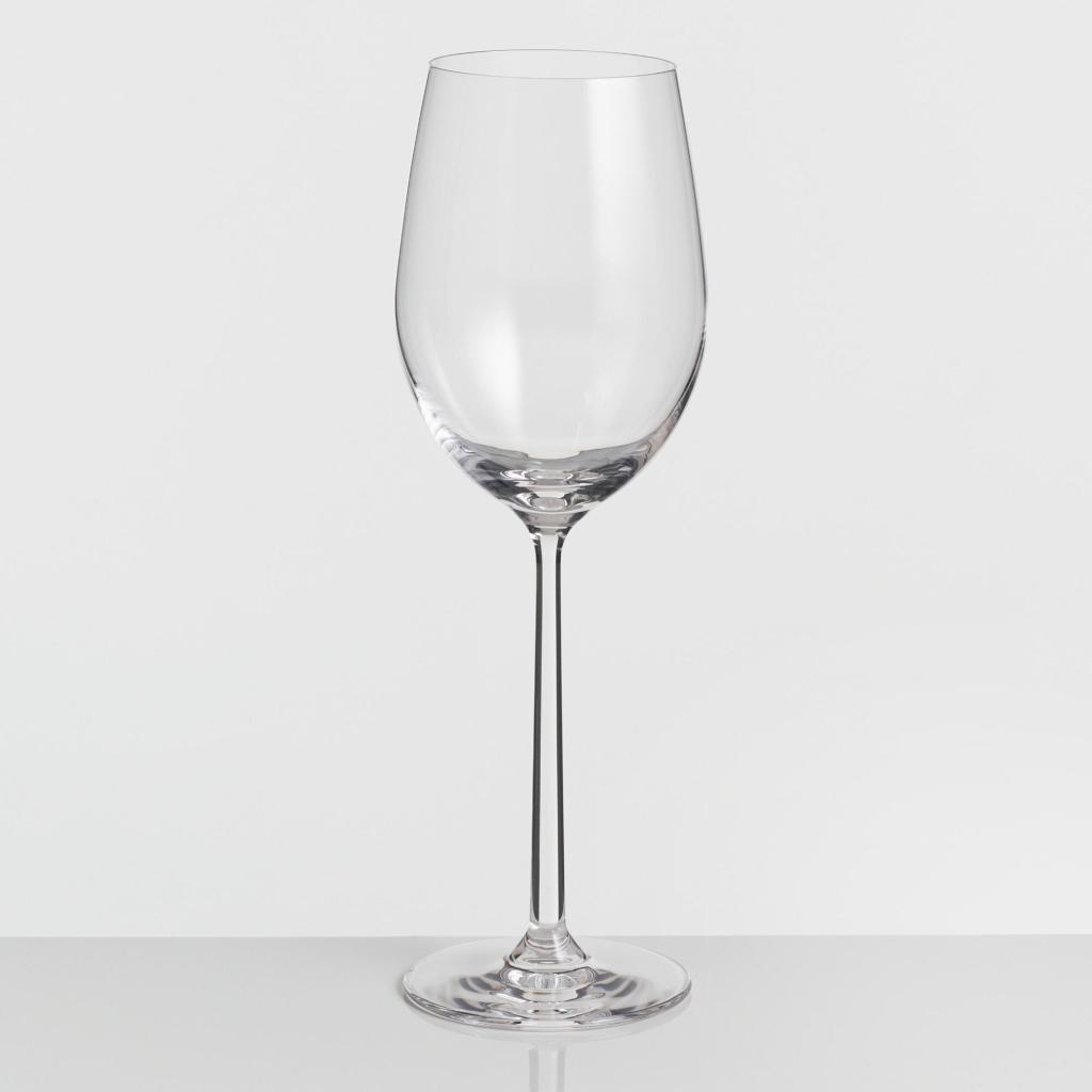 long stem oversized white wine glasses