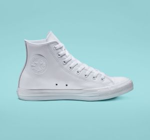 White Converse Leather High