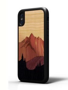 Carved Wooden Phone Cover
