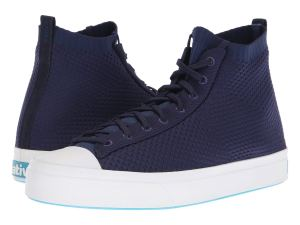 Blue Knit Sneakers High Tops