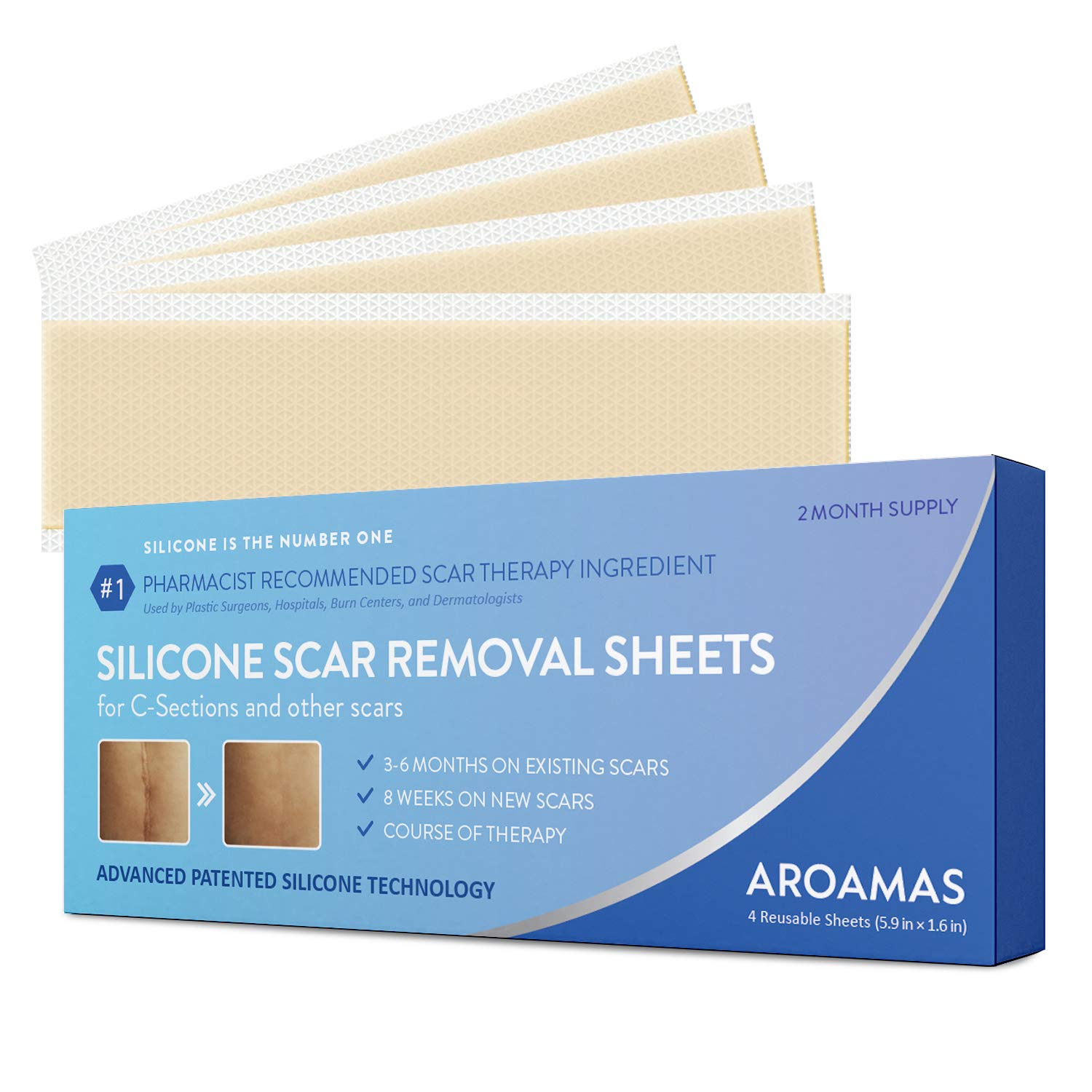 Aroamas Professional Silicone C-Section Scar Removal Sheets