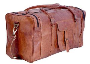 Leather Duffel Bag Men's