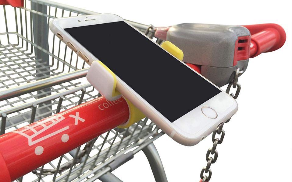 cell phone holder shopping cart
