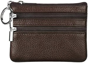 cynure leather zippered wallet