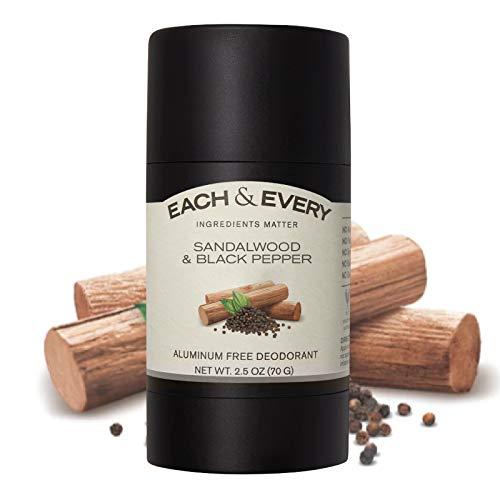 Each & Every Natural deodorant in sandalwood