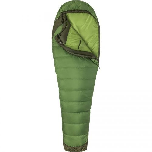 synthetic down green sleeping bag by Marmot Trestles