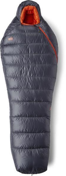 best sleeping bags - rei black down sleeping bag