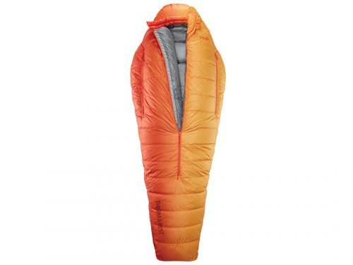 orange sleeping bag from Therm-A-Rest