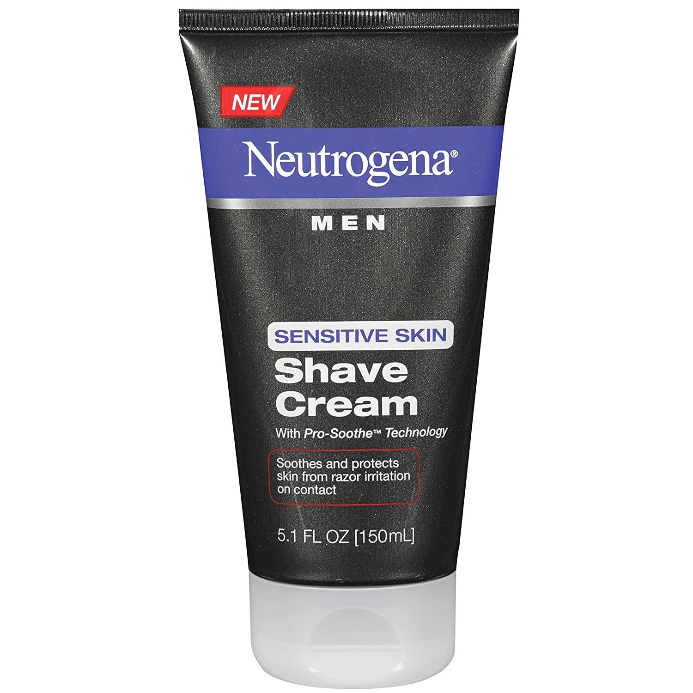 Neutrogena Men's Shaving Cream for Sensitive Skin; best shaving cream for sensitive skin