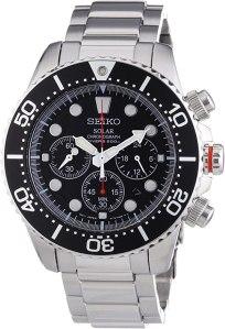 seiko mens chronograph solar watch