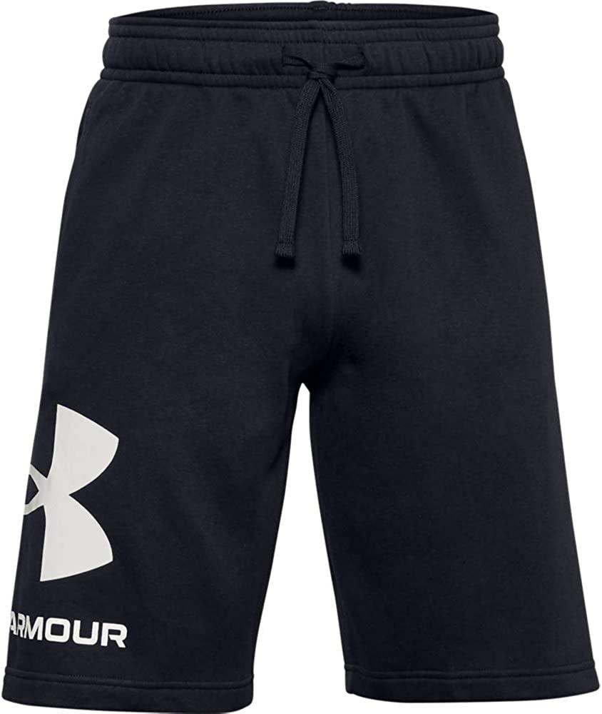 Black Under Amrour Rival Fleece Big Logo Shorts, best men's workout shorts