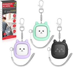 VIGOROAD Safe Sound Cat Face Personal Safety Alarm