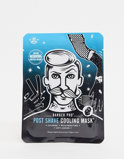 barber pro post-shave colling mask; best aftershave products