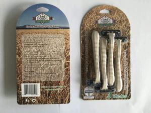 Biodegradable Wheat Straw Handle Razors