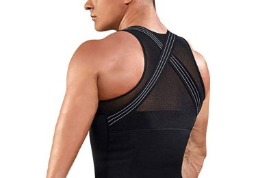 tank top hides belly, shrinks waist and tightens loose skin