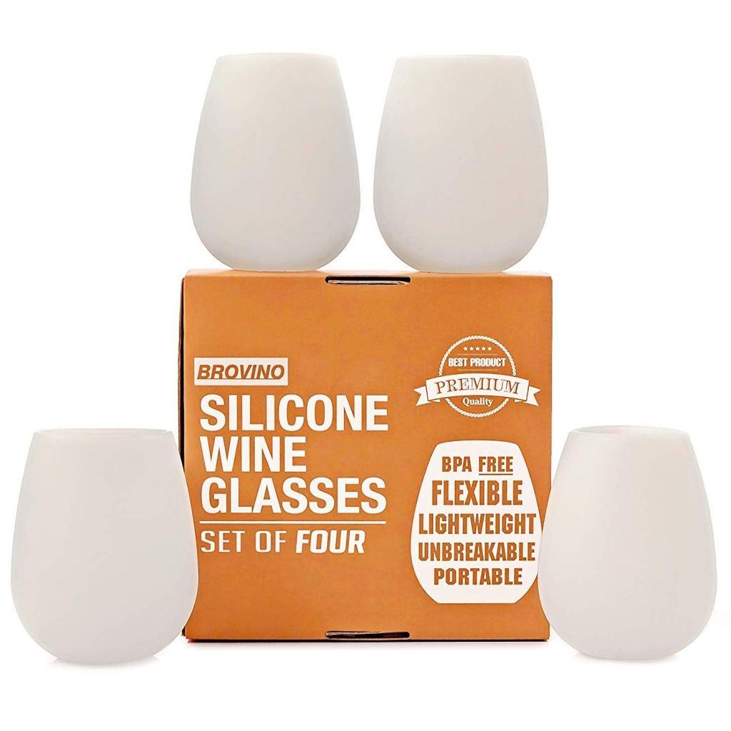 brovino silicone wine glass