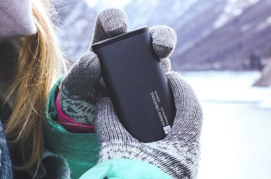battery pack doubles as a hand warmer and pocket heater