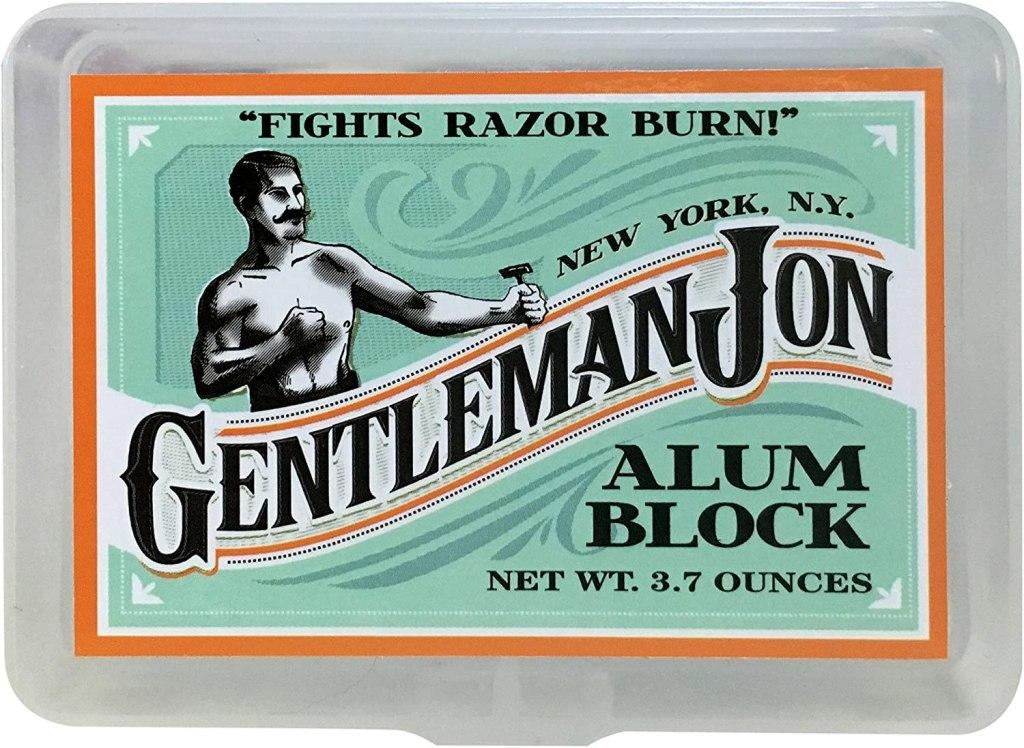 gentleman jon 3.7 ounce alum block in plastic case; best aftershave products