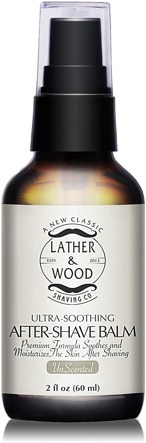Lather & Wood Shaving company unscented aftershave balm; best aftershave products