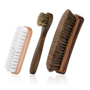 how to clean leather shoes brushes