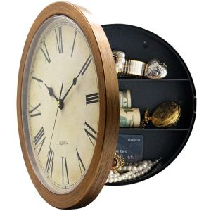 Magho Plastic Wall Clock With Secret Compartment
