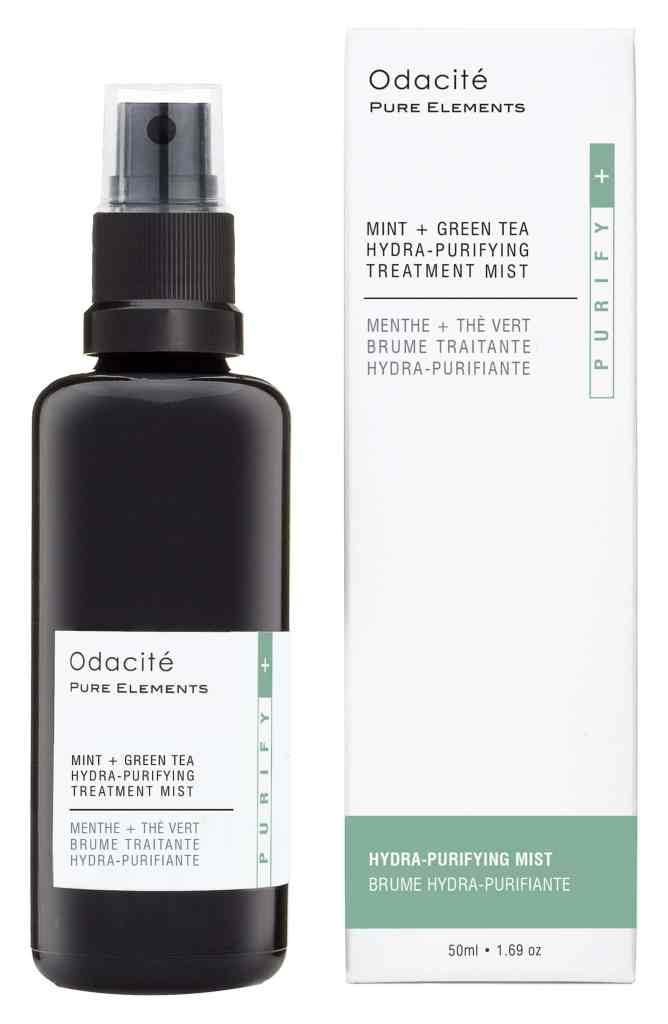 odacite mint and white tea hydra-purifying treatment mist