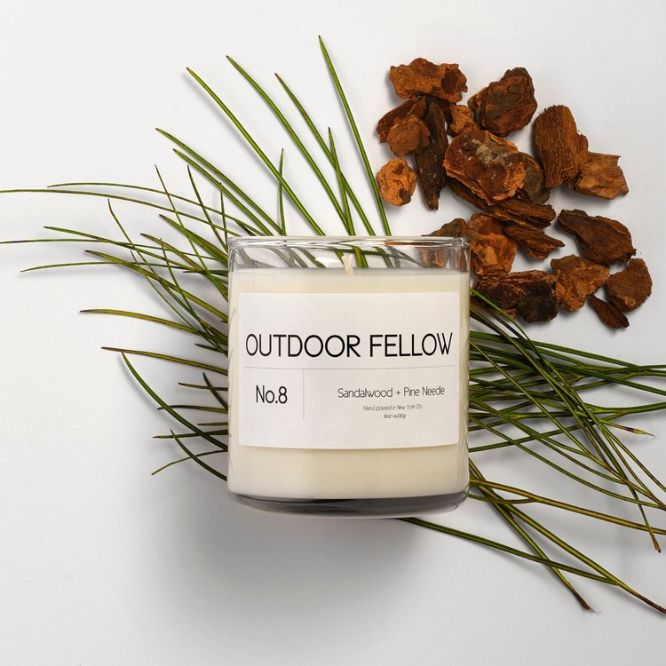 Sandalwood and Pine candle