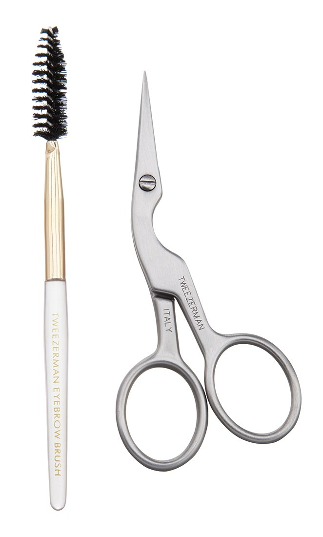 scissor and mascara brush