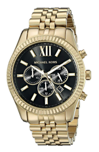 Gold Watch Black Dial Men's