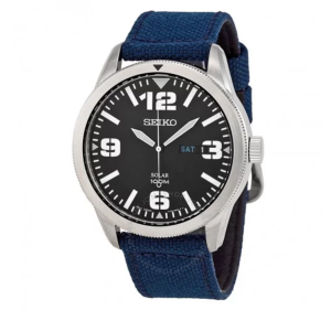 Solar Blue Dial Blue Nylon Men's Watch