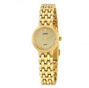 Solar Gold Dial Ladies Watch