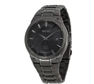 Solar Black Sunray Dial Black Ion-plated Men's Watch