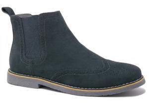 Suede Boots Chelsea Grey