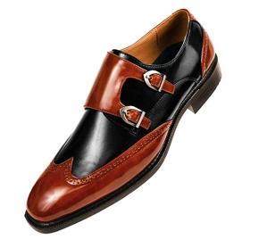 Formal Tuxedo Double Monk Strap Shoe
