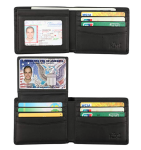 Black Wallet RFID Credit Cards