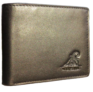 Black Leather Wallet Safe