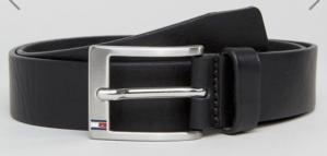 Black Leather Belt Men's Tommy Hilfiger