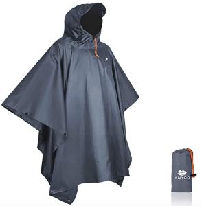 rain poncho hood grey