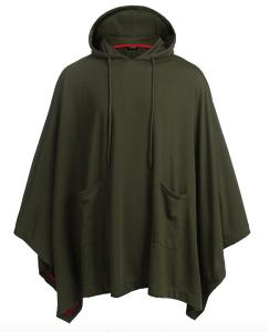 green poncho hoodie