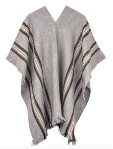 grey poncho wool alpaca