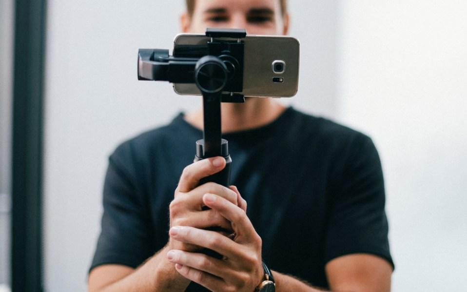 smartphone gimbal man