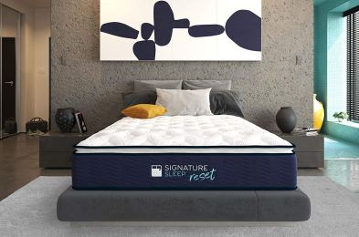 Signature-Sleep-Reset-Nanobionic-Pillow-Top-Hybrid-Mattress-Amazon-1