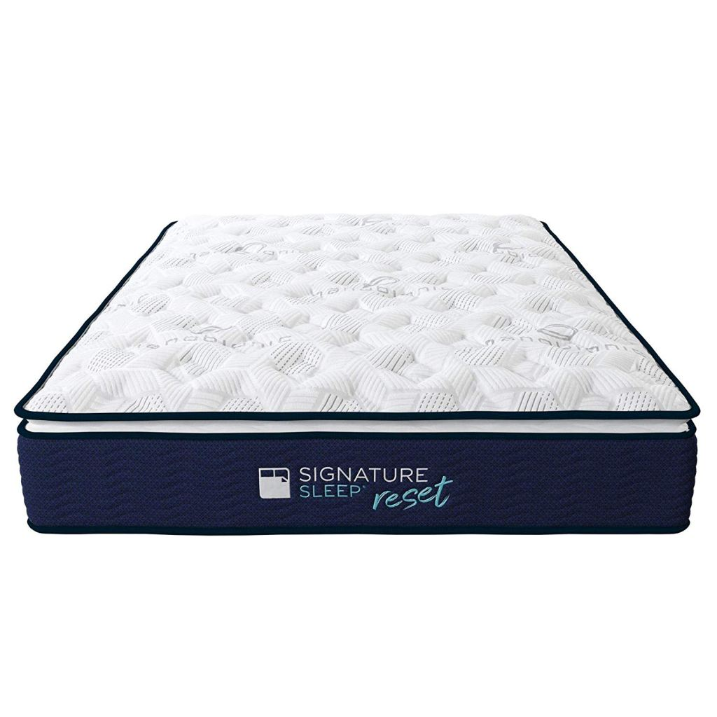 Signature Sleep Reset Nanobionic Pillow Top Hybrid Mattress Amazon