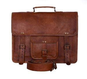 Brown Leather Briefcase Men's