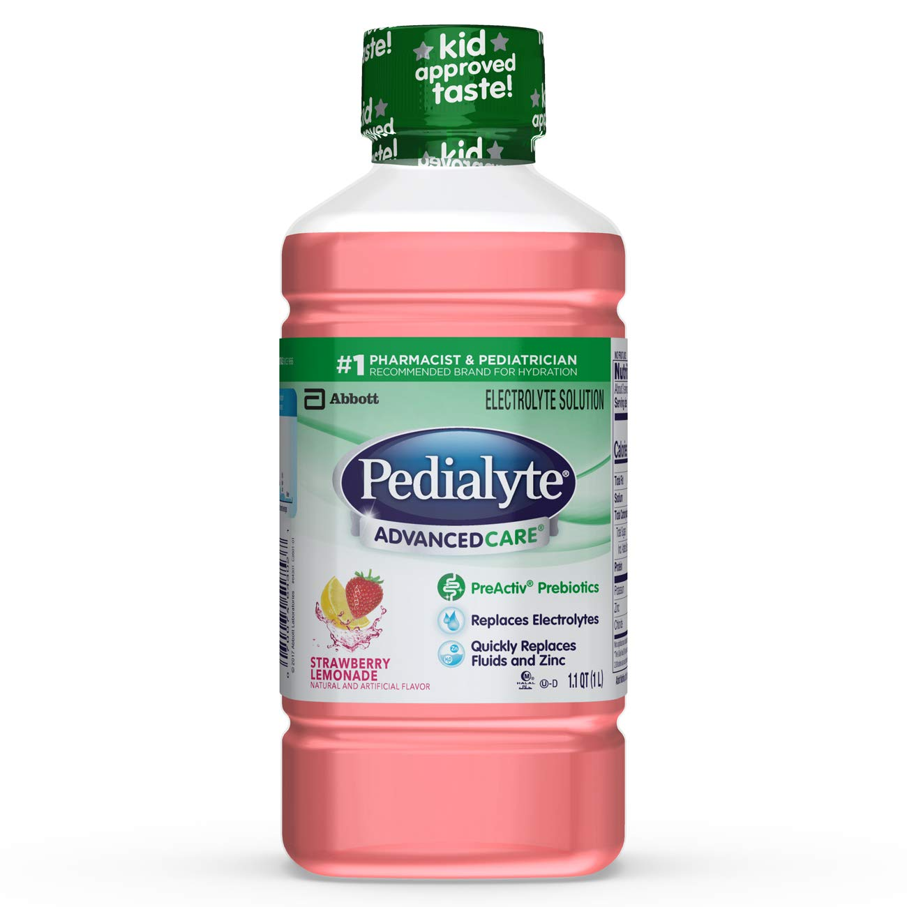 Pedialyte AdvancedCare Electrolyte Solution with PreActiv Prebiotics, Hydration Drink